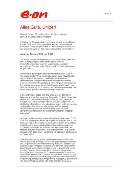 E.ON: Uniper, Seite 1/1, komplettes Dokument unter http://boerse-social.com/static/uploads/file_1761_eon_uniper.pdf (13.09.2016)