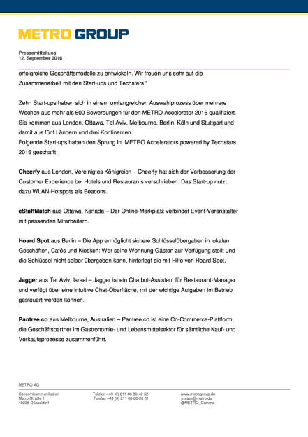 Metro Accelerator powered by Techstars: 2 Runde, Seite 2/5, komplettes Dokument unter http://boerse-social.com/static/uploads/file_1764_metro_accelerator_powered_by_techstars_2_runde.pdf (13.09.2016)