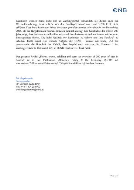 OeNB: Seit 200 Jahren wichtig – Bargeld in Österreich, Seite 2/2, komplettes Dokument unter http://boerse-social.com/static/uploads/file_1763_oenb_seit_200_jahren_wichtig_bargeld_in_osterreich.pdf (13.09.2016)