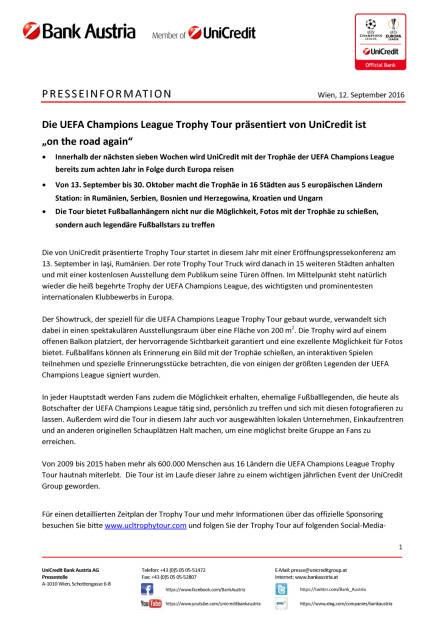 "UniCredit: UEFA Champions League Trophy Tour ""on the road again"", Seite 1/2, komplettes Dokument unter http://boerse-social.com/static/uploads/file_1762_unicredit_uefa_champions_league_trophy_tour_on_the_road_again.pdf (13.09.2016)"