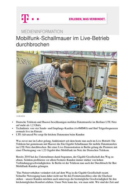 Deutsche Telekom: Mobilfunk-Schallmauer im Live-Betrieb durchbrochen, Seite 1/2, komplettes Dokument unter http://boerse-social.com/static/uploads/file_1766_deutsche_telekom_mobilfunk-schallmauer_im_live-betrieb_durchbrochen.pdf (13.09.2016)