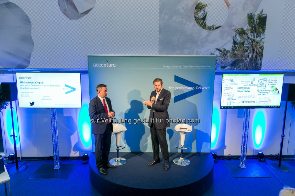 Michael Zettel (Accenture), Harald Mahrer (Staatssekretär), © Martina Draper/Accenture (13.09.2016)