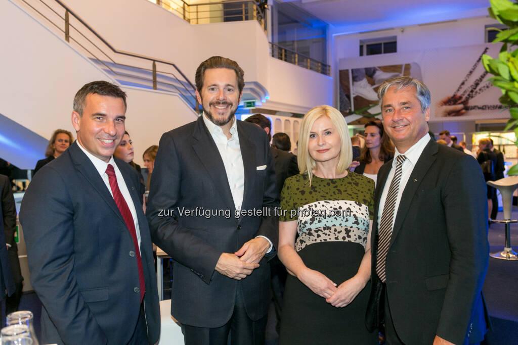 Michael Zettel (Accenture), Harald Mahrer (Staatssekretär), Sonja Sarközi (Bawag), Roland Smertnig (Accenture), © Martina Draper/Accenture (13.09.2016)