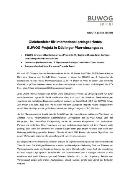 Buwog Gleichenfeier Wien Döbling, Seite 1/2, komplettes Dokument unter http://boerse-social.com/static/uploads/file_1767_buwog_gleichenfeier_wien_dobling.pdf (13.09.2016)