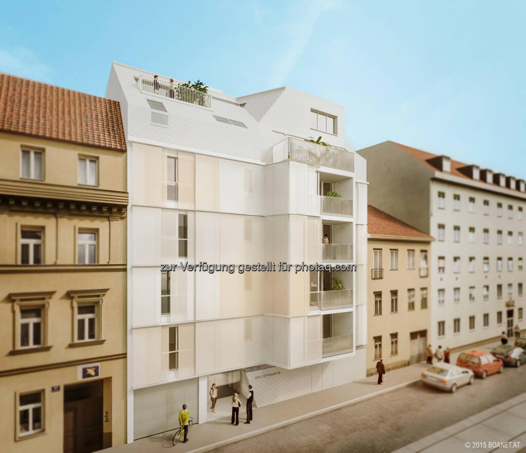 Simmering, Sedlitzkygasse 39 : Dachgleichenfeier eines neuen Vorsorgewohnungsprojekts der RVW in Kooperation mit BIP Immobilien : Fotocredit: RVW, © Aussendung (13.09.2016)