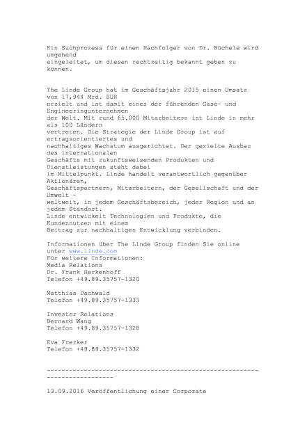 Linde CEO steht nicht für 2. Amtszeit zur Verfügung, Seite 2/3, komplettes Dokument unter http://boerse-social.com/static/uploads/file_1772_linde_ceo_steht_nicht_fur_2_amtszeit_zur_verfugung.pdf (13.09.2016)