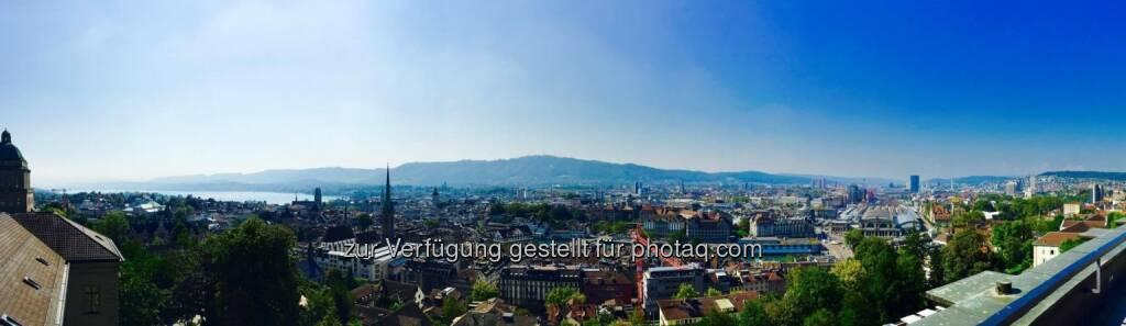 Panorama Zürich von Harald Mahrer (15.09.2016)