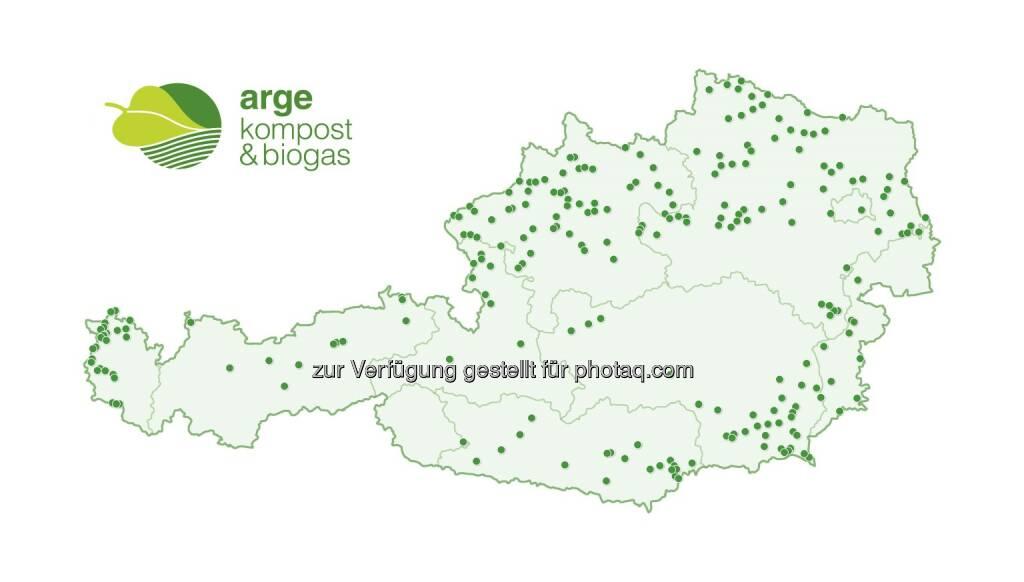 """Grafik """"Biogasanlagen in Österreich"""" : Fotocredit: ABKÖ, © Aussender (16.09.2016)"""