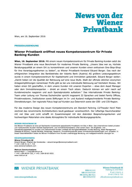 Wiener Privatbank: Neues Kompetenzzentrum für Private Banking-Kunden, Seite 1/1, komplettes Dokument unter http://boerse-social.com/static/uploads/file_1779_wiener_privatbank_neues_kompetenzzentrum_fur_private_banking-kunden.pdf (16.09.2016)