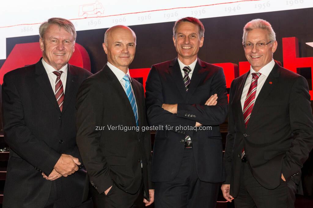 Alfred Hutterer (Aufsichtsratsvorsitzender), Günter Kitzmüller (Vorstand), Dieter Siegel (CEO), Gottfried Brunbauer (Vorstand) , © Eric Krügl (16.09.2016)