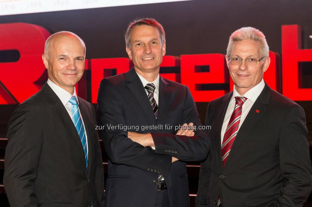 Günter Kitzmüller (Vorstand), Dieter Siegel (CEO), Gottfried Brunbauer (Vorstand) , © Eric Krügl (16.09.2016)
