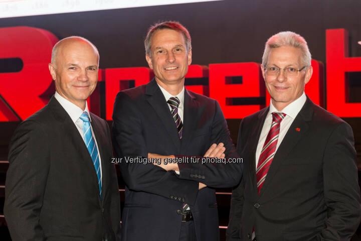 Günter Kitzmüller (Vorstand), Dieter Siegel (CEO), Gottfried Brunbauer (Vorstand)