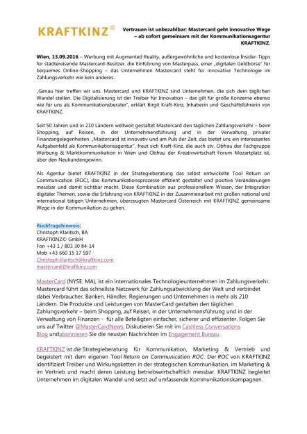 Mastercard ab sofort gemeinsam mit Kraftkinz, Seite 1/1, komplettes Dokument unter http://boerse-social.com/static/uploads/file_1782_mastercard_ab_sofort_gemeinsam_mit_kraftkinz.pdf (16.09.2016)