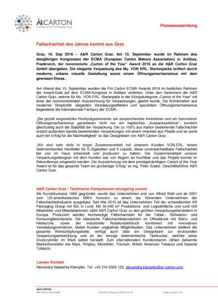 A&R Carton Graz: Faltschachtel des Jahres, Seite 1/1, komplettes Dokument unter http://boerse-social.com/static/uploads/file_1786__ar_carton_graz_faltschachtel_des_jahres.pdf (16.09.2016)