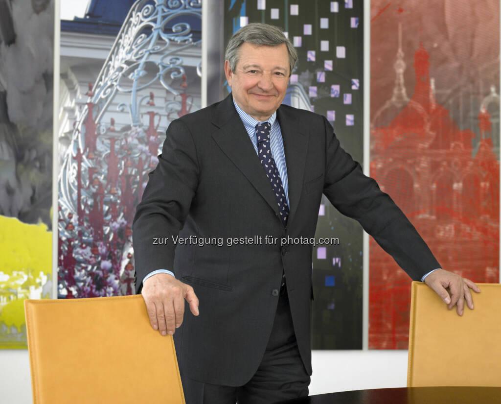 Heinrich Spängler (Bankhaus Spängler) auf der Pressekonferenz Familienunternehmen performen an der Börse (Foto: Bankhaus Spängler) (25.04.2013)