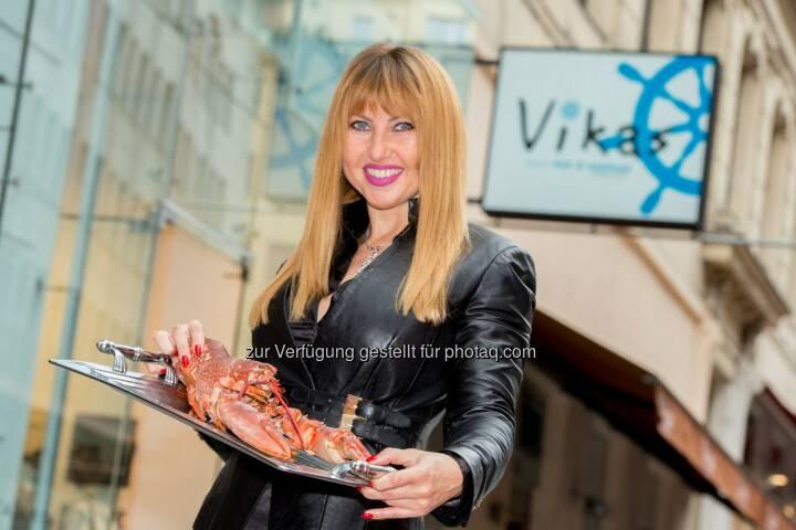 """Victoriya Pochodnya (Inhaberin & Gastronomin) : Neueröffnung Fischrestaurant """"Vikas"""" am 19.09 am Wildpretmarkt 3 : Fotocredit: Culinarius/APA-Fotoservice/Hörmandinger"""