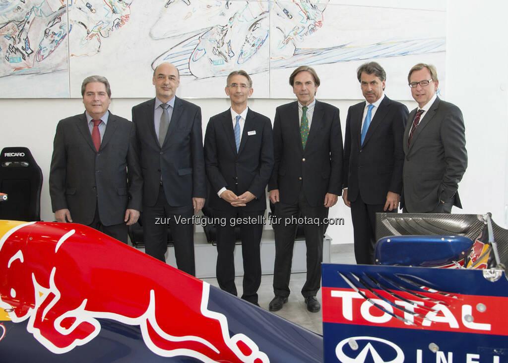 Bernd Rosenberger (Bürgermeister Bruck/Mur), Manfred Wegscheider (Bürgermeister Kapfenberg), Wolfgang Plasser (Pankl), Franz Voves ( Landeshauptmann der Steiermark), Stefan Pierer (Cross), Christian Buchmann (Landesrat) (25.04.2013)