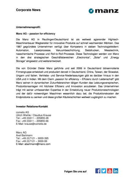 Manz AG: Vorstand wird um Chief Restructuring Officer (CRO) verstärkt, Seite 2/2, komplettes Dokument unter http://boerse-social.com/static/uploads/file_1816_manz_ag_vorstand_wird_um_chief_restructuring_officer_cro_verstarkt.pdf (22.09.2016)
