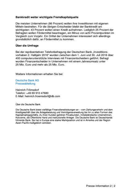 Deutsche Bank-Studie: Neun von zehn Unternehmen wollen 2016 noch investieren, Seite 2/2, komplettes Dokument unter http://boerse-social.com/static/uploads/file_1818_deutsche_bank-studie_neun_von_zehn_unternehmen_wollen_2016_noch_investieren.pdf (22.09.2016)
