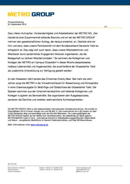 Metro Group: Partnerschaft mit Bundesverband Deutsche Tafel, Seite 2/2, komplettes Dokument unter http://boerse-social.com/static/uploads/file_1819_metro_group_partnerschaft_mit_bundesverband_deutsche_tafel.pdf (22.09.2016)