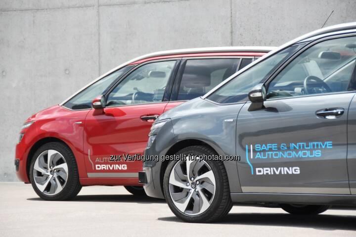 Autonome Fahrzeuge der Groupe PSA : Seite Mitte 2015 bereits 60.000 Kilometer im autonomen Modus von Demonstrationsfahrzeugen der Groupe PSA zurückgelegt : Fotocredit: Groupe PSA