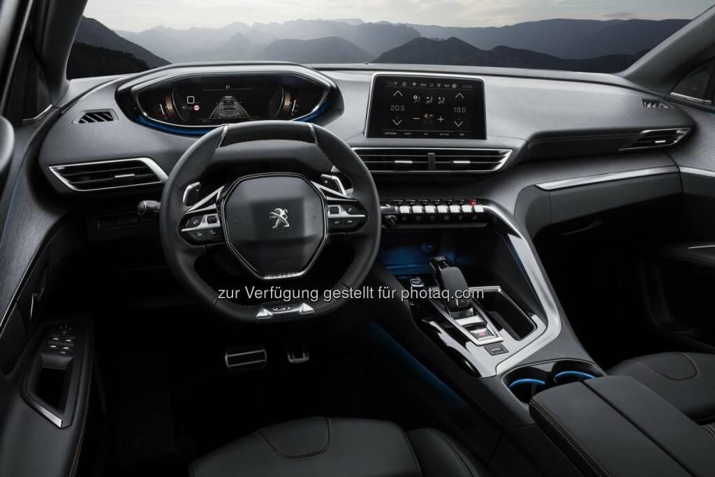 """i-cockpit im neuen Peugeot 3008 SUV : Peugeot zeigt auf der """"Vienna Design Week"""" anspruchsvolles Design aus dem Peugeot Design Lab : Fotocredit: Automobiles Peugeot, © Aussendung (23.09.2016)"""