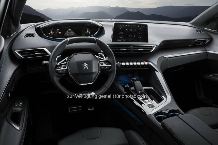 "i-cockpit im neuen Peugeot 3008 SUV : Peugeot zeigt auf der ""Vienna Design Week"" anspruchsvolles Design aus dem Peugeot Design Lab : Fotocredit: Automobiles Peugeot"