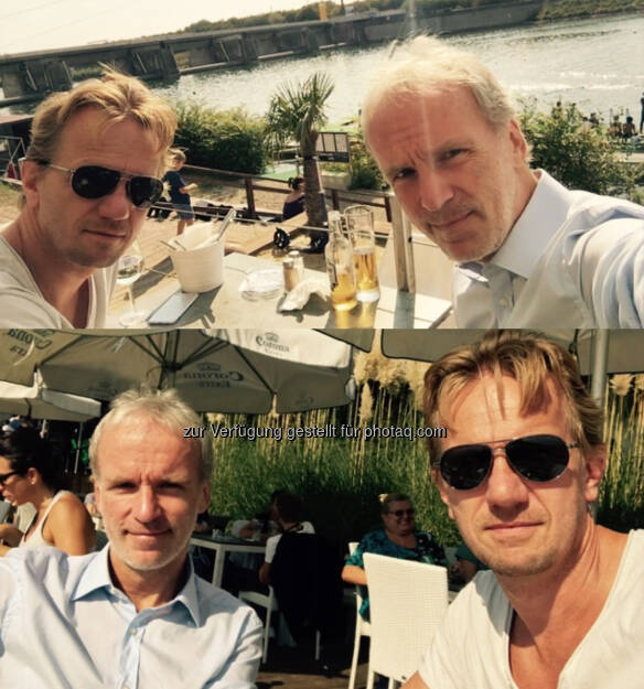Danach: Mit Kumpel Michi beim Wasserskilift (25.09.2016)