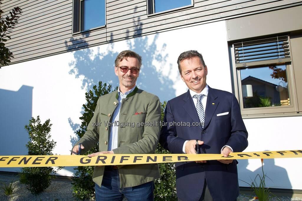 Griffner Geschäftsführer Georg Niedersüss und Stefan Jausz - Wie Familien wohnen wollen (Bild: GRIFFNER/APA-Fotoservice/Preiss), © Aussendung (26.09.2016)