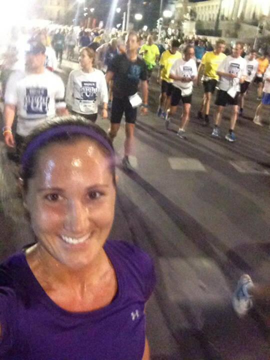Monika Kalbacher beim erste bank vienna night run 2016