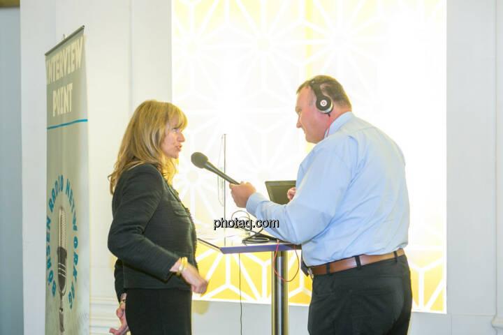 Elke Koch (AT&S), Peter Heinrich (Börsenradio)