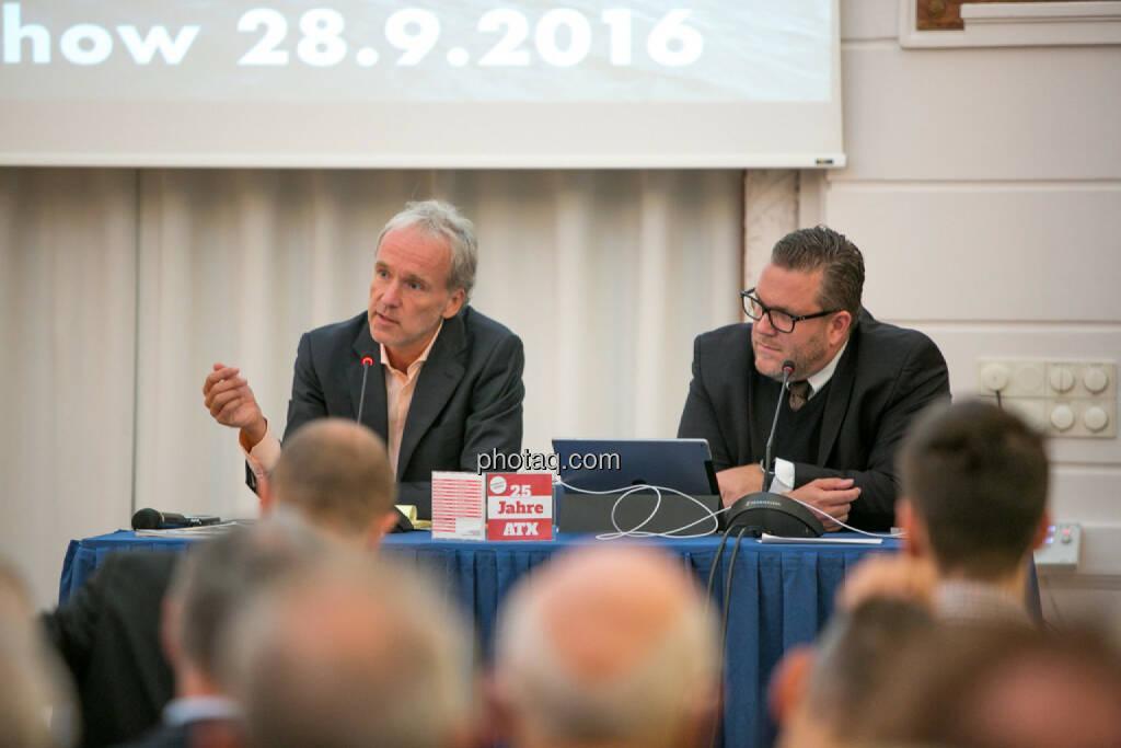 Christian Drastil (BSN), Christoph Scherbaum (Die Börsenblogger), © Martina Draper/photaq (29.09.2016)