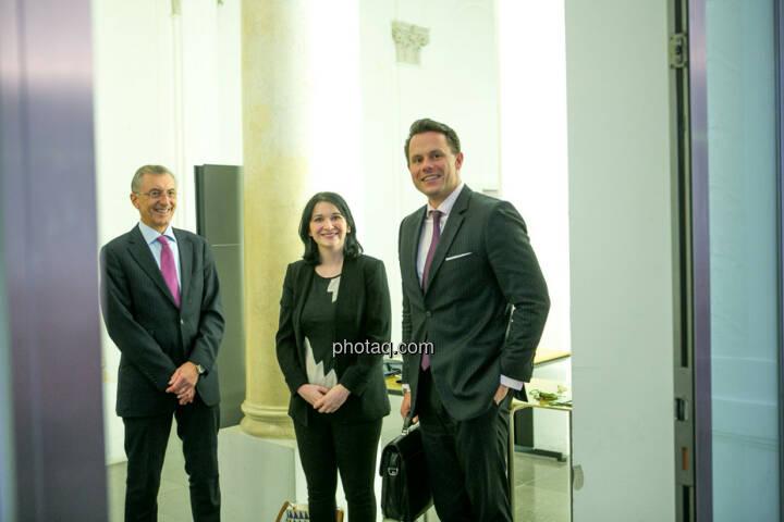 Thomas Birtel (Strabag), Diana Klein (Strabag), Christoph Boschan (Wiener Börse)