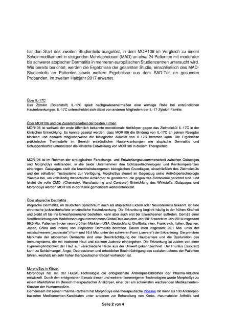 MorphoSys und Galapagos starten Behandlung von Patienten mit atopischer Dermatitis, Seite 2/4, komplettes Dokument unter http://boerse-social.com/static/uploads/file_1843_morphosys_und_galapagos_starten_behandlung_von_patienten_mit_atopischer_dermatitis.pdf