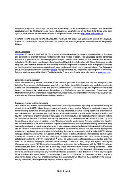 MorphoSys und Galapagos starten Behandlung von Patienten mit atopischer Dermatitis, Seite 3/4, komplettes Dokument unter http://boerse-social.com/static/uploads/file_1843_morphosys_und_galapagos_starten_behandlung_von_patienten_mit_atopischer_dermatitis.pdf