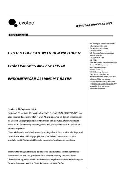 Evotec: Meilenstein in Endometriose-Allianz mit Bayer, Seite 1/3, komplettes Dokument unter http://boerse-social.com/static/uploads/file_1844_evotec_meilenstein_in_endometriose-allianz_mit_bayer.pdf