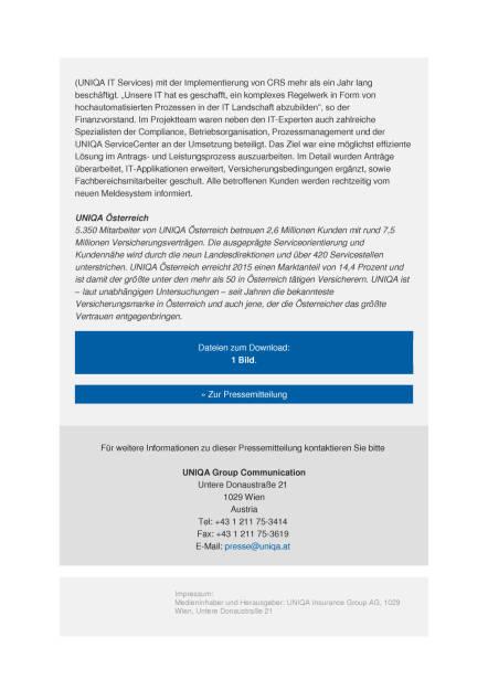 Uniqa: Common Reporting Standard, Seite 2/3, komplettes Dokument unter http://boerse-social.com/static/uploads/file_1845_uniqa_common_reporting_standard.pdf