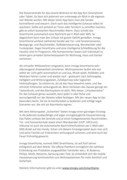 innogy SmartHome - Sicherheit fürs Haus, Seite 2/4, komplettes Dokument unter http://boerse-social.com/static/uploads/file_1846_innogy_smarthome_-_sicherheit_furs_haus.pdf