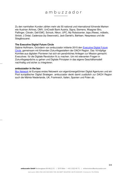 ambuzzador feiert 12 Jahre, Seite 3/4, komplettes Dokument unter http://boerse-social.com/static/uploads/file_1848_ambuzzador_feiert_12_jahre.pdf