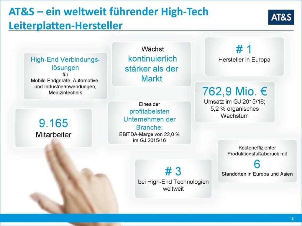 AT&S - ein weltweit führender High-Tech Leiterplatten-Hersteller (29.09.2016)
