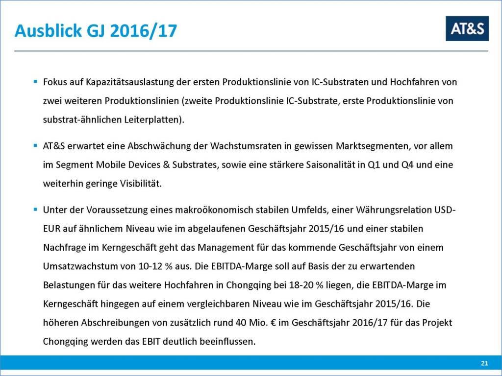 AT&S Ausblick (29.09.2016)