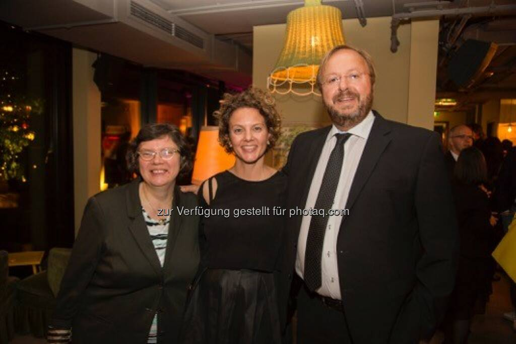 Monika Rosen (Chefanalystin Bank Austria Private Banking), Sabine Hoffmann (ambuzzador), Anton Leitner (CIO NÖM)