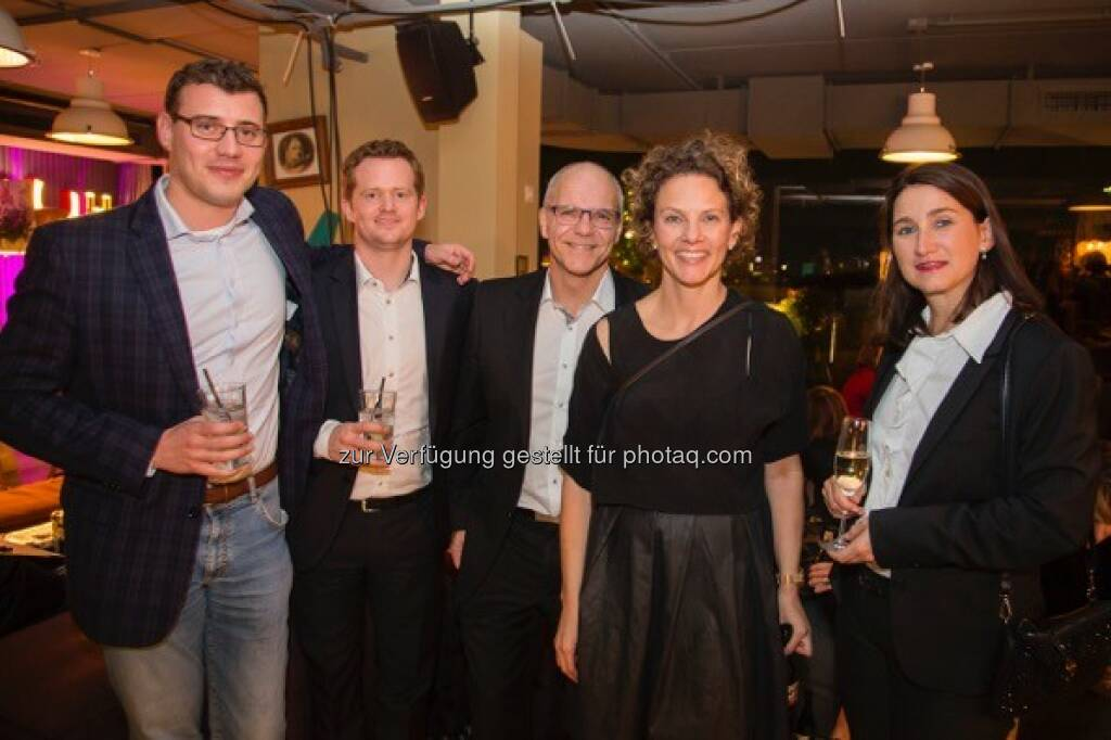 Nick Allgaier (Swiss Airlines), Julian Fischer (Manager Innovation Austrian Airlines), Ulrich Richter (CFM Deutsche Lufthansa). Sabine Hoffmann (ambuzzador), Christina Tiefbrunner (Head of Cabin Crews Austrian Airlines)