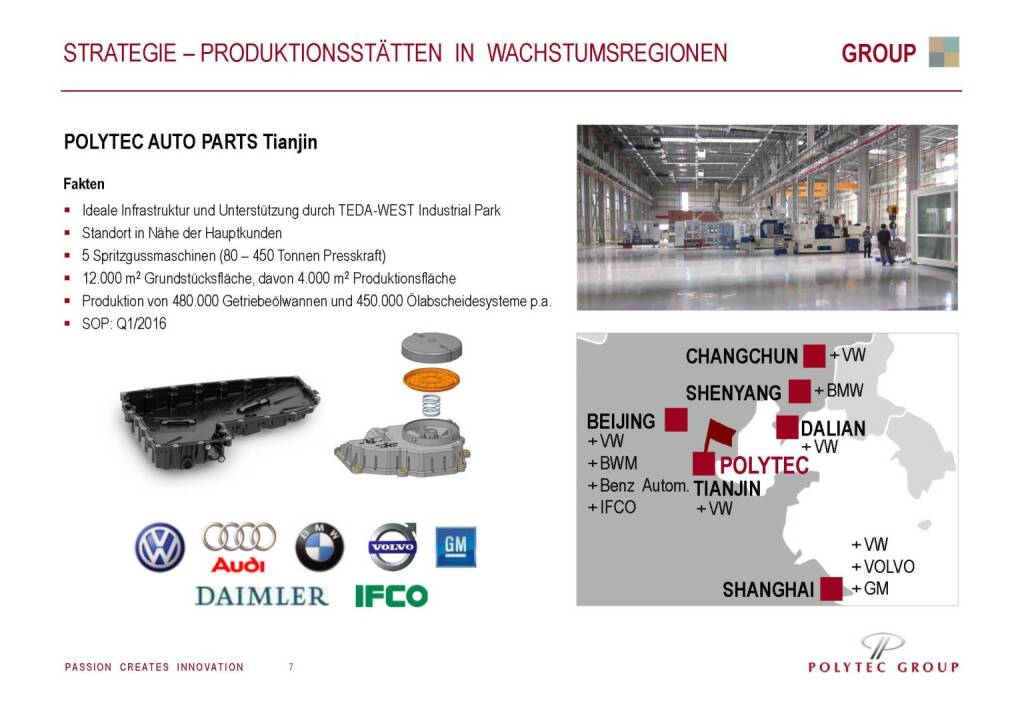 Polytec Strategie Produktionsstätten