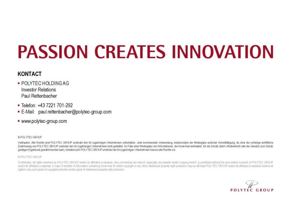 Polytec passion creates innovation