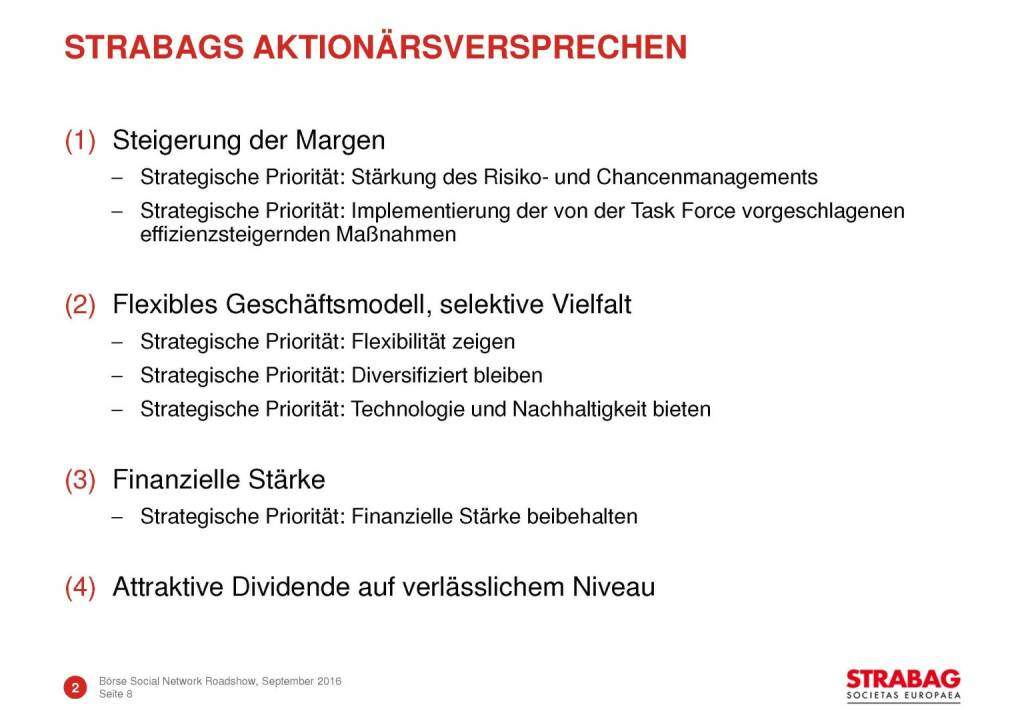 Strabag - Aktionärsversprechen (29.09.2016)