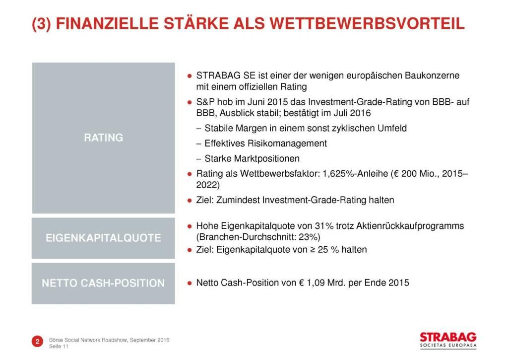 Strabag - finanzielle Stärke (29.09.2016)