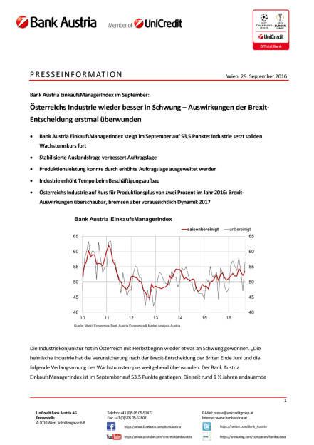 Österreichs Industrie – Auswirkungen der Brexit-Entscheidung erstmal überwunden, Seite 1/4, komplettes Dokument unter http://boerse-social.com/static/uploads/file_1849_osterreichs_industrie_auswirkungen_der_brexit-entscheidung_erstmal_uberwunden.pdf