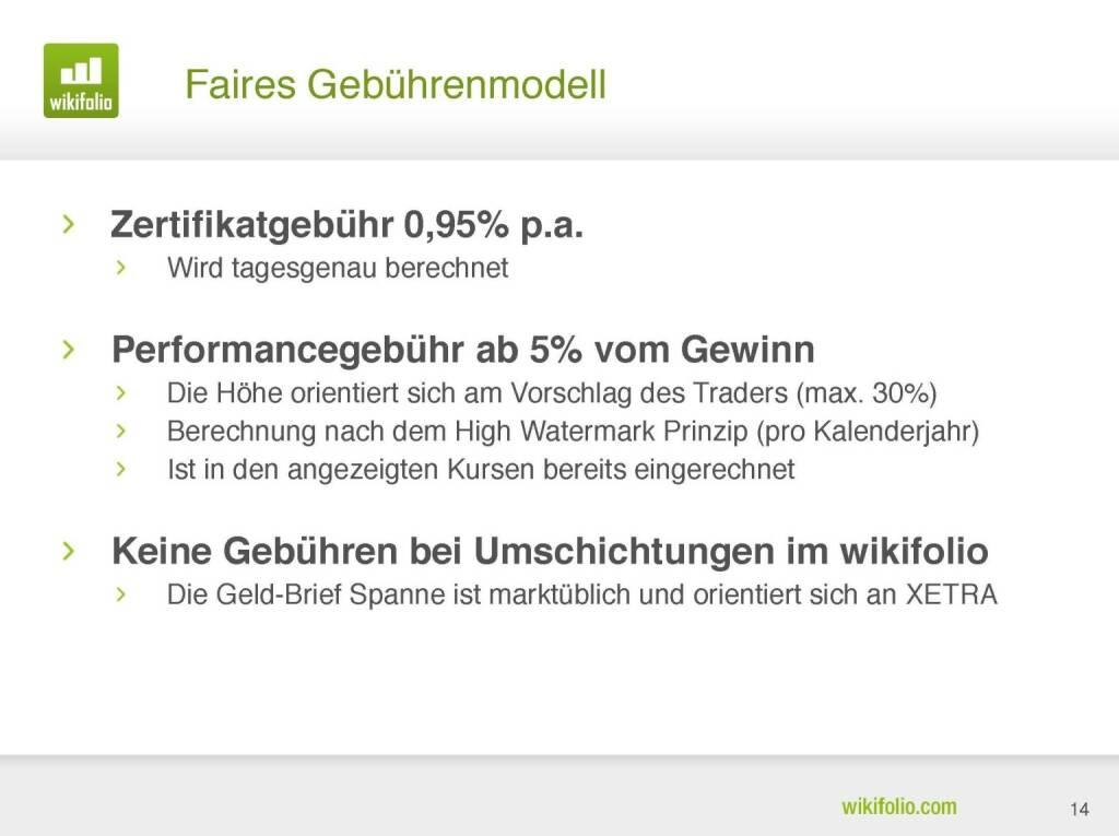 wikifolio.com - Gebührenmodell