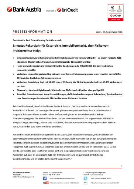 Bank Austria: Erneutes Rekordjahr für Österreichs Immobilienmarkt, Seite 1/4, komplettes Dokument unter http://boerse-social.com/static/uploads/file_1851_bank_austria_erneutes_rekordjahr_fur_osterreichs_immobilienmarkt.pdf